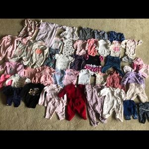 Huge lot bundle 50 pc newborn-3m baby girl clothes